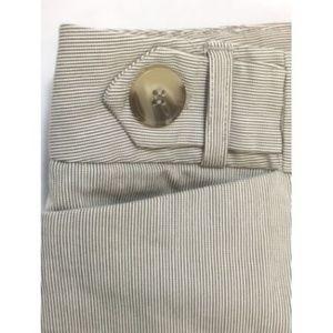 Dalia  Petite 8P Short Pant Tan/Brown Micro Stripe